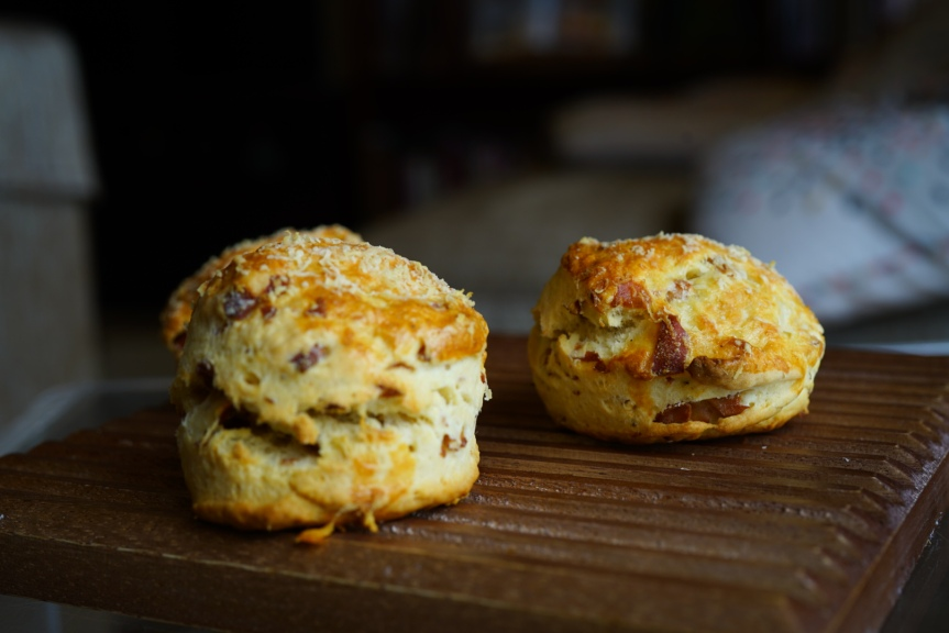 Breakfast Scones with Mortadella Bologna IGP and Grana Padano Cheese